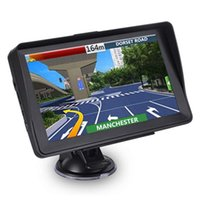 Sunshade Shield 8GB 256MB 트럭 SAT NAV FM Bluetooth Avin Navigation Lifetime Maps 업데이트가있는 2021 자동 차 7 인치 GPS 네비게이터