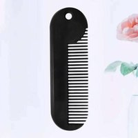 Hair Brushes Zinc Alloy Beard Comb Sturdy Styling Portable Accessories Useful Supply Salon Gadget For Men (Black)