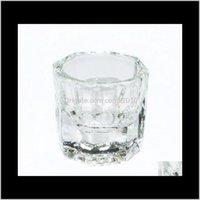 Wholesale - copo de vidro de forma octogonal Dappen prato recipiente para arcilica nail art wid pó ezw3n qq2gy