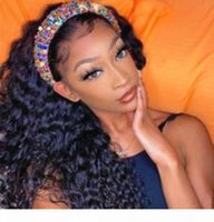 Jerry Curly Human Health Health Wig para Mulheres Negras Cabelo Brasileiro Cabelo Sem Renda Frente 3 4 Head Wigs Clipe em Cabelo Exte