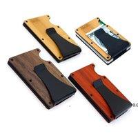 NEW4 Couleur En Bois Clip Favor Favoris Porte-cartes Portable Portefeuille Métal Creative Père Day Cadeau EWF7502
