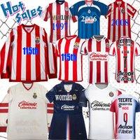 Amérique Chivas Regal Soccer Jersey 1996 1997 2007 2008 115 Anniversaire 110 100 rétro 2021 Guadalajara Vintage Homme Femmes Chemise de football