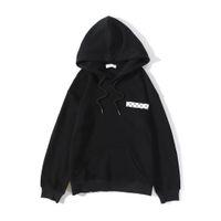 Осень Чистые хлопковые Мужские толстовки Высококачественная печать Свободный дизайнер Пуловер Пара Куртка