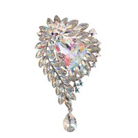 Pins, Brooches Beadsland Irregular Plant Luxurious Twinkling Crystal Brooch Decoration Accessory Match Temperamental Jewellery Women Gift