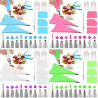 Baking & Pastry Tools 8 14 20 26Pcs Icing Piping Nozzles Set Silicone Bag Kitchen Cake Decorating Scraper Flower Cream Tips
