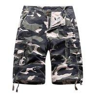 Hommes Camo Cargo Shorts Relaxés Fit Fit Multi-poche Mens d'extérieur Camouflage Casual Retro Basic Grand Taille Moto Coton Pantalon court Pantalon JM2859
