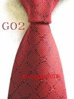 Hombres Classic Silk Tie Mens Business Lazs Neckwear Skinny Grooms Corbata para camisa de traje de fiesta de boda TIES CASUAL 02