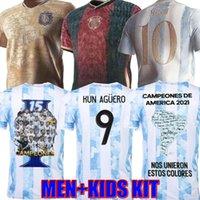 Аргентина Марадона Месси футбол футбол 2021 22 Home Away Kun Agüero Di Maria Lo Celso Martinez Correa Football Рубашка Размер S-4XL