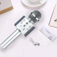 WS858 Microfone Handheld Bluetooth Wireless KTV 858 Microfones com alto-falante Mic Microfono Loudspeaker Portátil Karaoke Player