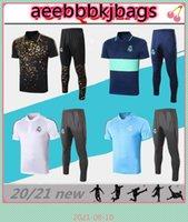 2021 Gerçek Madrid Futbol Gömlek Futbol Polo Maillots De Kısa Kollu Koşu Eğitim Takım Boyutu S-XXL