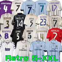 Finales Real Madrid Retro Soccer Jersey Guti Ramos McManaman 13 14 15 16 Ronaldo Zidane Beckham Raul Redondo 94 95 96 97 98 99 00 01 02 03 04 05 06 07 Carlos Seedorf