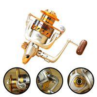 Baitcasting Reels 5.2: 1 EF500 - 9000 12BB Rueda de pesca Reel Carpa Alimentador Spinning Carretilhas de Pesca Molinete