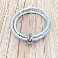 Pandora Charms dla Biżuterii Dokonywanie 925 Sterling Silver Chain Koraliki Bransoletki Zestaw Bransoletka Pasuje Europejskie MRS Boże Narodzenie Naszyjniki Dzieci WomencoStume Prezent 792005EN07