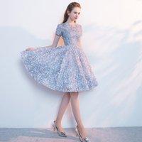 New Short Sexy Flower Cocktail Dresses Sleeve Dinner Elegant Vestido Gowns