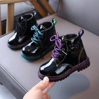2021 New Arrival Autumn Winter Leather kids Girls Boys Boots Soft Light Weight Non-slip Martin Boots For Children