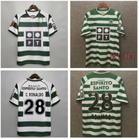 2003 2004 Sporting CP Lisboa Retro Jerseys 03 04 Ronaldo Classic Vintage Adulto Futebol Esportes Camisas