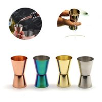 Stainless Steel Wine Measuring Cup Bar Tools 15 30 ML Polished Double-Head Cups Multi-Function Bars