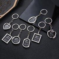 Keychain Portable Användbar Infoga Bild Key Ring Creative New Metal Alloy Key Finder Fotoram Trinket Bil Key Ring Smycken
