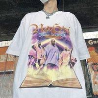 Мужская футболка Kanye West High Street Картина маслом печать футболки Мужчины женщины же Top Work Work Willeves Персонаж Tops Isus Is kanyes Meghch Music Peright