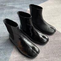 Boots Shoes Tabi Ninja Moccasins Round Split Toe Shallow Women Ankle Lazy Slip On Slingback Leather Soft