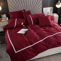 Super Soft Touch Bettwäsche Sets 4 Saison Bequeme Quilt Cover Hohe Qualität Stickerei Designer Bett Bettdecken Set King Size