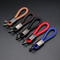 Auto Logo Schlüsselanhänger für 2021-2021 Nissan Qashqai J11 Leder Seil geflochtene Ropeluxury Keychain Zubehör Handgemachte Schlüsselanhänger