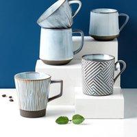 Mugs Japanese Vintage Aesthetic Tea Mug Coffe Cup Nordic Art Creative Cups Ceramic Turkish Tazzine Caffe Breakfast