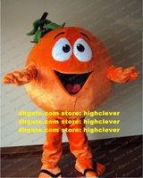 Orange Arancia Mandarin Mandarinin Mandarino Maskottchen Kostüm Erwachsene Cartoon Charakter Kopf sehr großer Messe Messe ZX1538