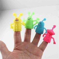 Moda TPR Cola Macio Luminosa Luminosa Bonecas de Dedo Monstro para Kids Children Story Telling Prop Mini Dedo Fantoche Dedo Dedo Capa Toy G7228PB