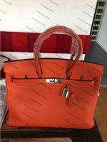 مصمم الكلاسيكية حقيبة الأزياء 35 سنتيمتر 30 سنتيمتر النساء اليد الفضة الأجهزة حقائب الكتف cowskin حقيبة يد جلد طبيعي