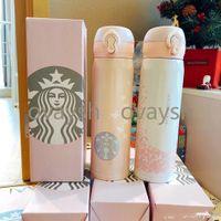 500ml Starbucks Becher Edelstahl Vakuumflasche Water Cup Bester Weihnachtsgeschenk mit Paketkasten Fabrikversorgung