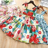 Hello Enjoy Summer Girls Dress Fashion Flower Dresses For 3-12Year Big Child Clothing Kids Sleeveless Beach Girl's