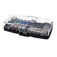 Way Car Mini Blade Blade Blade Box Box 2 in 4 OUT Power Distribution Block Lega di zinco e PC Prevengono parti eccessive ATV corrente