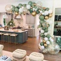 Party Decoration 119pcs Retro Color Bean Paste Green Balloon Arch Garland Kit Wedding Hawaiian Birthday Ballons Globos