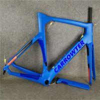 Blue Carrowter مفهوم دراجة إطار الكربون الطريق الدراجة إطارات ماتي / لامعة 16 ألوان