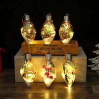 2021 Christmas Creative New LED Transparent Glass Ball Christmas Tree Pendant Sparkling Spot Wholesale