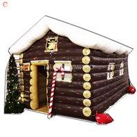 السفينة حرة إلى باب الهواء ترتد منزل خشبي حفلات في الهواء الطلق حزب تأجير نفخ سانتا كتهور منزل عيد الميلاد مع الطباعة