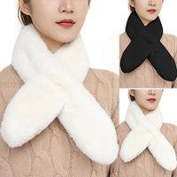 Scarves Fashion Women's Velvet Plush Scarf Soft Autumn And Winter Solid Colors Overlapping Thick Warm Bufanda Mujer#35