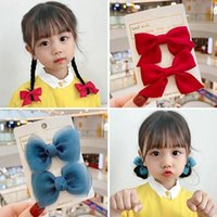 Hair Accessories Summer Girl Pair Clip Children Net Yarn Bow Hairpin Cute Princess Top Hairgrips Barrettes Gift