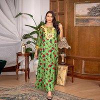 Abbigliamento etnico Turchia Islam Musulmani Moda Abito lungo abito abito Longue Djellaba Femme Abayas per Donne Abiti Kaftan Maroc Eid Mubarak Abaya du