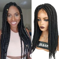 Synthetic Wigs M&H Braided Lace Front Wig Perruque Tresse Africaine Marley African For Black Women