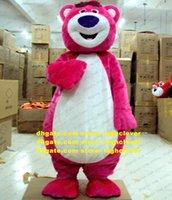Pink Lotso Bear Mascot Costume Costume Dessin animé Adulte Caractère Outfit Inauguration Anniversarures Grande Ouverture CX4013 Libre Ship