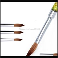 Dotting Salon Health Beauty Drop Delivery 2021 Uv Gel Ding Painting Liner Brush Acrylic Pen French Mixed Colors Gourd Handle Nail Art Diy Too