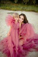 Bridal Photo Shoot Pregnancy Pink Prom Dresses 2021 Long Kimono Robe Maternity Dress Evening Gowns Bride Sleepwear