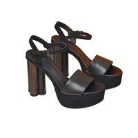 2021 النساء مصمم السيدات منصة جلد طبيعي الصنادل الصيف الشقق مثير الكاحل أحذية عالية المصارع صندل عارضة أحذية الكعوب حجم 35-41