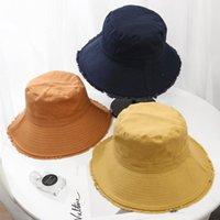 Bahar Yaz Büyük Brim Kova Şapka Kadın Katı Panama Şapka Pamuk Balıkçı Balıkçılık Avcılık Kap Açık Güneş Gorras Geniş Önlemek