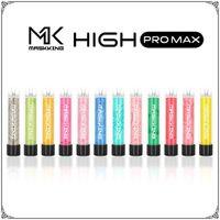ORIGINAL MASKKING High GT PRO PRO MAX VAPE VAPE CIGURTOS ELECTRÓNICOS CON EL CÓDIGO QR 1500 Puffs 4.5ml Cartucho Listo para usar Boquilla transparente 13 Colores Vapores