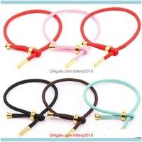 Charm Bracelets Jewelrym Unisex Titanium Steel Braided Rope Lucky Bracelet Bangle Diy Jewelry Drop Delivery 2021 7Whjs
