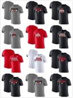 오하이오 주 부커 티셔츠 셔츠 면직물 둥근 칼라, 느슨한, 통기성 인쇄 망 츠 001