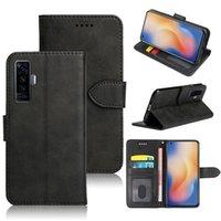 Klasyczny Portfel PU Skórzane etui Mobile Torby Telefon Karty Slot Photo Frame Shockproof Flip Cover For Vivo X23 X Play5 Play6 x3 X3L X5 XL X6 X9 X9 X9S X20 Plus x21 x21i x21